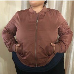 Jackets & Blazers - Mauve bomber jacket